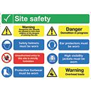 """Site Safety"" Notice Sign 600 x 800mm"