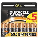 Duracell Alkaline Plus Power AA Batteries 1.5V Pack of 15 + 5 Free