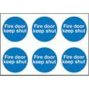 """Fire Door Keep Shut"" Adhesive Labels 100mm Pack of 30"