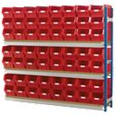 Toprax Longspan Extension Bay 56 x TC5 Red Containers 1780 x 328 x 1500mm