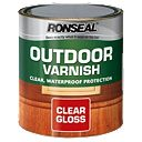 Ronseal Outdoor Varnish Gloss Clear 750ml