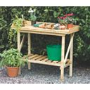 Forest Larchlap Softwood Potting Bench Green 0.9 x 0.5 x 1.1m