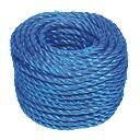 Blue Stranded PP Rope 8mm x 30m