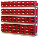 Toprax Longspan Extension Bay 72 x TC4 Red Containers 1780 x 328 x 1500mm