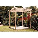 Finnlife Single Deck & Pergola Kit 2.4 x 2.4 x 2.4m