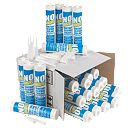 No Nonsense Plumbers Sanitary Silicone 12 x Clear & 12 x White 310ml Pk24