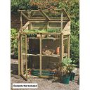 Forest Larchlap Acrylic Mini Greenhouse 1.2 x 0.62 x 1.44m