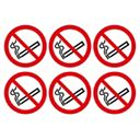 No Smoking Symbol Adhesive Labels 100mm Pack of 30