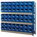 Toprax Longspan Extension Bay 56 x TC5 Blue Containers 1780 x 328 x 1500mm