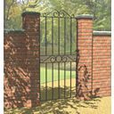 Metpost Ironbridge Ironbridge Gate Zinc-Plated 810 x 1800mm