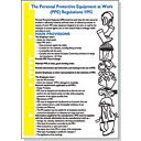 """The Personal Protective Equipment At Work Regulations"" Poster 600 x 420mm"