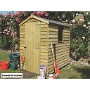 Overlap Single Door Apex Shed 6 x 4 x 7
