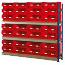 Toprax Longspan Extension Bay 28 x TC6 Red Containers 1780 x 328 x 1500mm