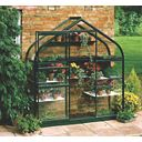 Halls Supreme 62 Aluminium Greenhouse Green Toughened Glass 6