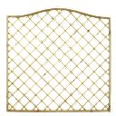 Forest Larchlap Hamburg Open-Lattice Fence Panels 1.8 x 1.8m Pack of 6