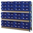 Toprax Longspan Extension Bay 28 x TC6 Blue Containers 1780 x 328 x 1500mm