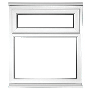 Unbranded TF Double Glazed uPVC Window Clear 620 x 1050mm