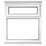 TF Double Glazed uPVC Window Opaque 620 x 1050mm