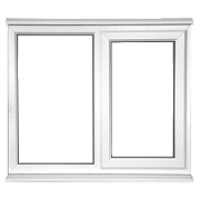 Unbranded SF OPP Double Glazed uPVC Window Clear 1200 x 1200mm