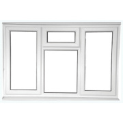 STSF Left & Right Hand Opening Double Glazed uPVC Window Clear 1780 x 1050mm