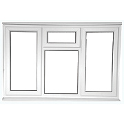 Unbranded STSF Left & Right Hand Opening Double Glazed uPVC Window Clear 1780 x 1050mm