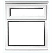 Unbranded TF Double Glazed uPVC Window Opaque 915 x 1050mm