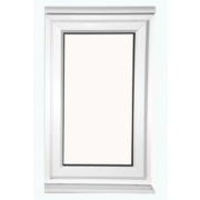 S AS Double-Glazed uPVC Window Clear 620 x 1200mm