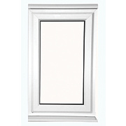 Unbranded S AS Double Glazed uPVC Window Clear 620 x 1200mm