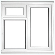 Unbranded STF AS Double Glazed uPVC Window Opaque 1200 x 1050mm