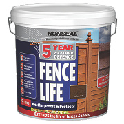 Ronseal 5 Year Weather Defence Fencelife Medium Oak 9Ltr