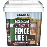 Ronseal Sprayable One Coat Fence Life Medium Oak 5Ltr