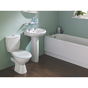 Suite-To-Go Modern Bathroom Suite with Steel Bath