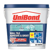 Unibond Triple Protection Anti-Mould Tile Adhesive & Grout Ice White 5Ltr