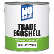 No Nonsense Trade Eggshell Trim Paint Brilliant White 2.5Ltr