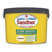 Sandtex Ultra Smooth Masonry Paint Magnolia 10Ltr