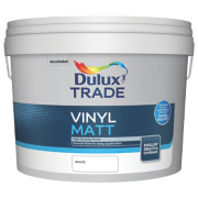 Dulux Trade Vinyl Matt Emulsion Paint White 10Ltr