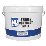 No Nonsense Trade Contract Matt Emulsion Paint Brilliant White 10Ltr