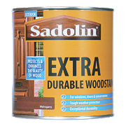 Sadolin Extra Durable Woodstain Semi-Gloss Finish Mahogany 1Ltr