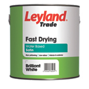 Leyland Trade Satin Fast Drying Paint Brilliant White 2.5Ltr