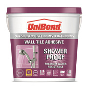 Unibond Waterproof Wall Tile Adhesive White 5Ltr