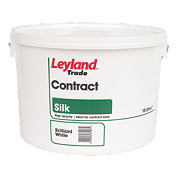 Leyland Trade Silk Contract Emulsion Paint Brilliant White 10Ltr