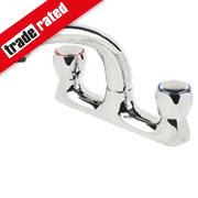 Swirl 11473 Contract Sink-Mounted Deck Sink Mixer Kitchen Tap Chrome