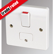 MK 13A DP Switched Fused Connection Unit with Flex Outlet White