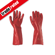 "Keep Safe PVC 16"" Gauntlets Red Large"