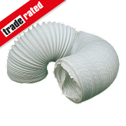 Manrose PVC Ducting Hose White 3m x 100mm
