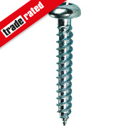 "Quicksilver Zinc-Plated Woodscrews Roundhead 8ga x 1½"" Pack of 200"