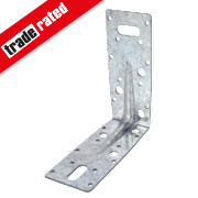 Heavy Duty Angle Brackets Galvanised 63 x 150mm Pk10