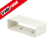 Manrose Flat Channel Connector White 120mm