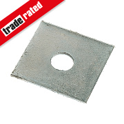 Sabrefix M12 Square Plate Washers Galvanised DX275 50mm x 50mm Pk50