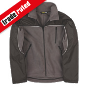 "Site Fleece Jacket Grey/Black X Large 47"" Chest"